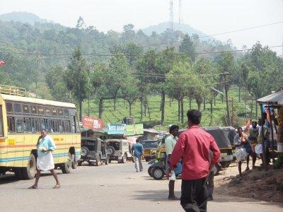 Tea town en route to Munnar