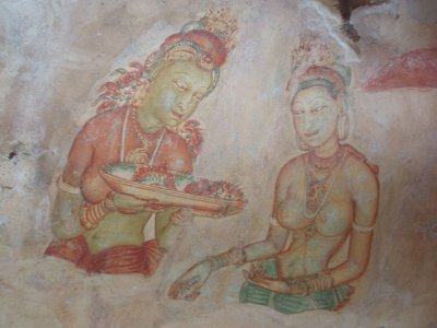 Ancient frescoes of buxom wenches