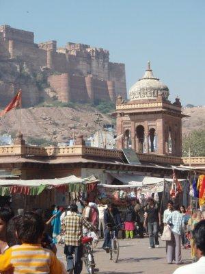 Mehrangarh from Sadar Bazaar