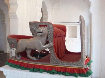 Howdah (elephant seat) in Mehrangarh