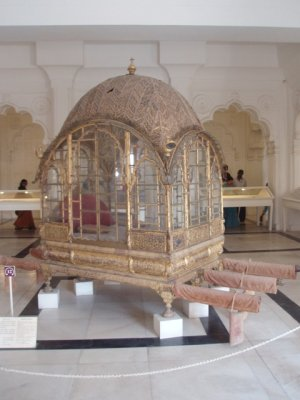 Palanquin (royal person carrier) in Mehrangarh