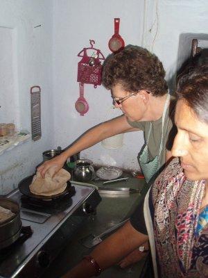 Rotating the roti