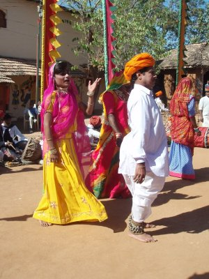 Transvestite dance group at Shilpgram