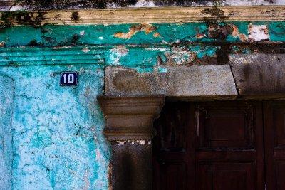 Aged doorway