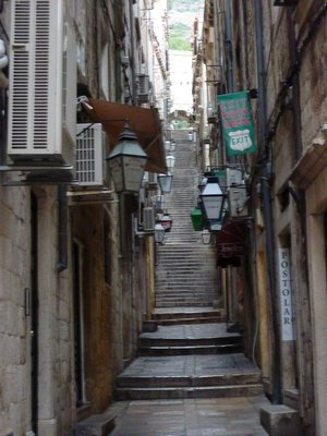 Dubrovnik alley with stairs