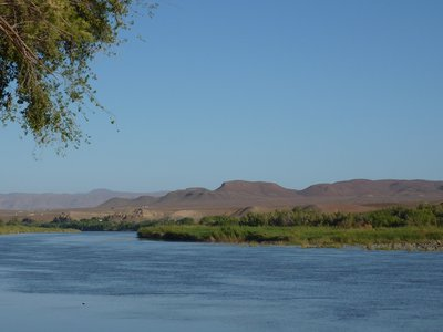 Orange River - border between South Africa and Namibia