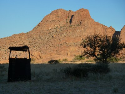 Outside loo at Spitzkoppe, Namibia