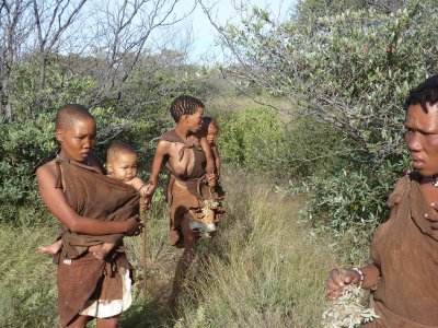 Bush people, Kalahari, Botswana