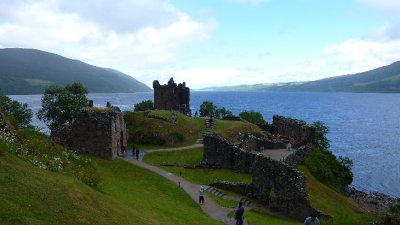 Castle Urqhart near Inverness on Loch Ness