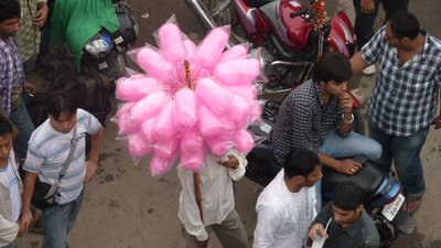 Candy floss for sale in McLeod Ganj