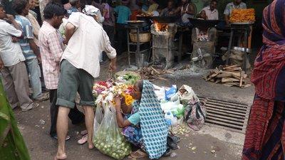 Flower seller, Varanasi, India