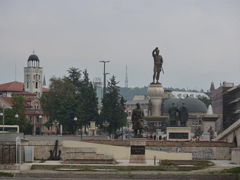Skopje more statues