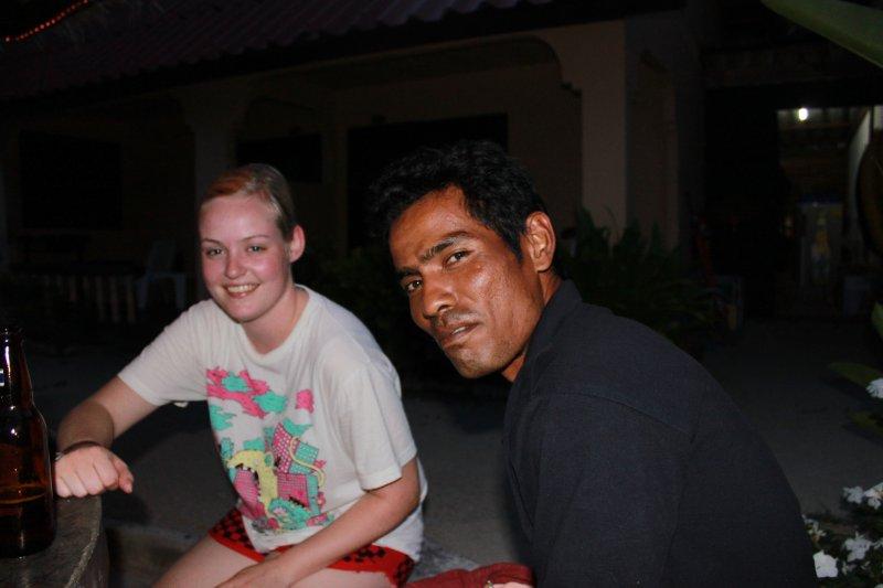 Ten&Susanne på baren på hotellet siste kvelden