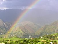 Rainbow Looking Down the Valley