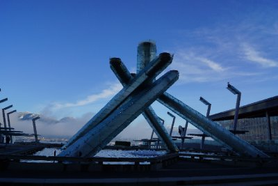 Olympic Cauldron at Canada Place.
