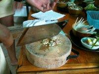 Chopping ingredients