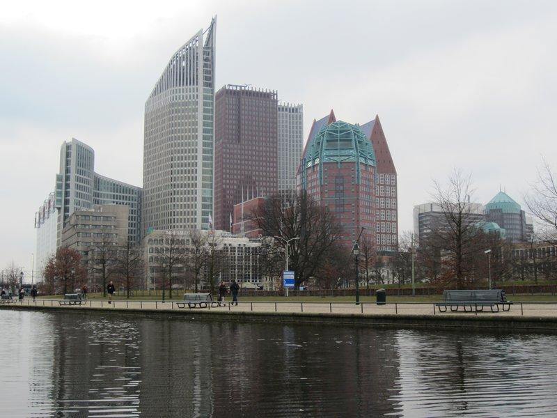 Den Haag's modern city center