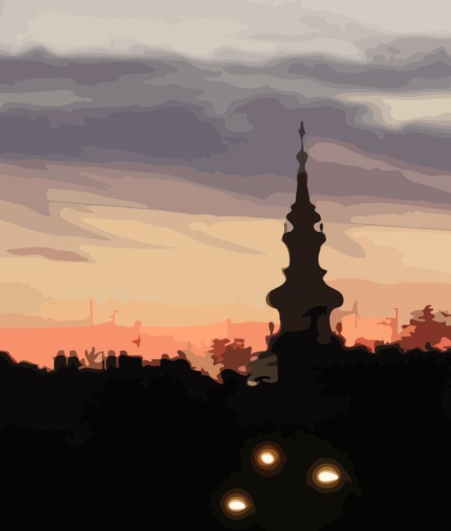 Belgrade at Dusk