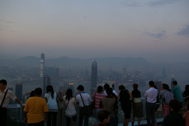 People at victoria peak