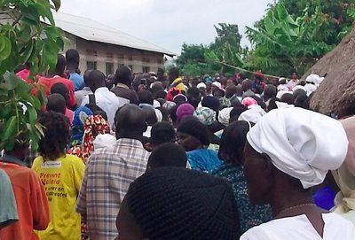A recent funeral I attended of the brother of my work colleague.  This is the crowd at the grave-side