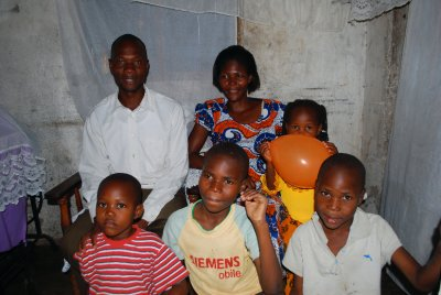 George Abura and his family whom we visited on Sunday