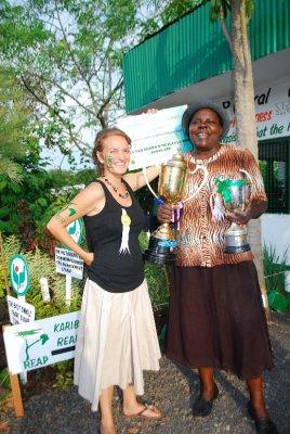 Big mama Dom and small Em share the winning glow
