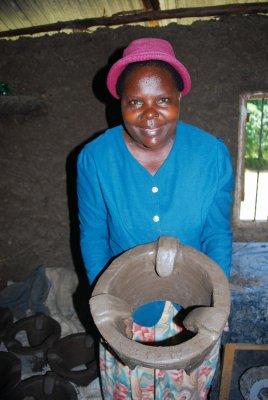 Domatilla's clay oven demo