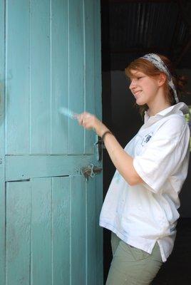 Claire's door