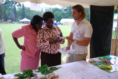 Talking to people at Maseno climate change conference
