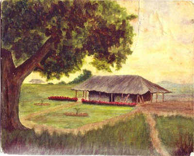 The Gardner's Home, Arua, Painted in Watercolour