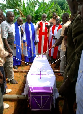 Patrick, a close friend's funeral recently. Patrick died in a head-on collision on a motorbike with a drunk motorcyclist. He leaves behind 2 young children now being looked after by Patrick's brother who already can't afford school fees for his own kids