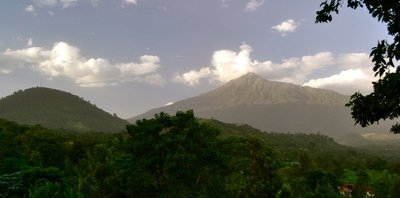 Mt Meru, 4565m. Arusha is an area with a spectacular landscape including Mt Kilimanjaro and Mt Meru, an old volcano
