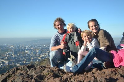 Amelie's first summit! Arthur's Seat, Edinburgh