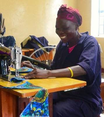 Mothers learn how to sew through the Lifestitches programme