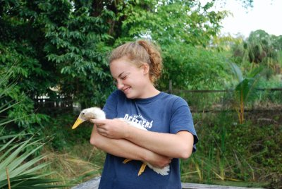 One intern, Sherril, the animal lover...