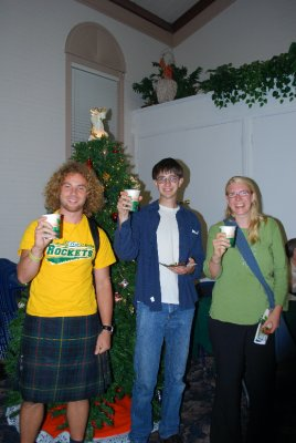 ECHO interns and me eating cookies at the Hanging of the Greens ceremony