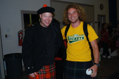 Meeting the pastor in his kilt