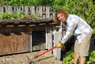 How to be humble: cleaning out the chicken coop manure