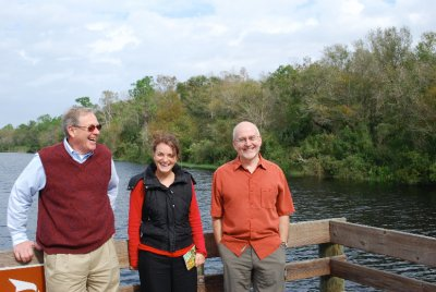 At the 'Slough Preserve' with Tom and David