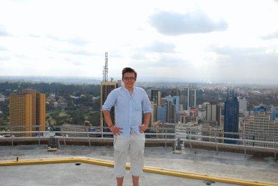 Jordan atop Kenya International Conference Centre