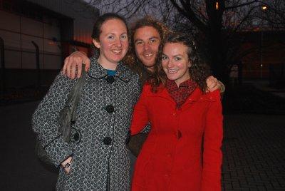 Heather Oats in a smart coat