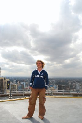 Me atop KICC overlooking Nairobi