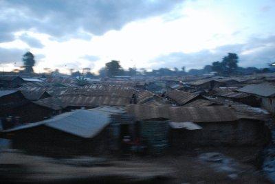 Travelling through Kibera slum