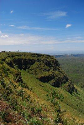 Volcanic crater heading from Nairobi to Kisumu