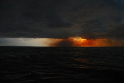 Storm brewing over Lake Victoria