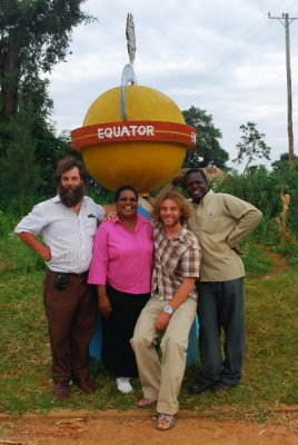 REAP team at the equator