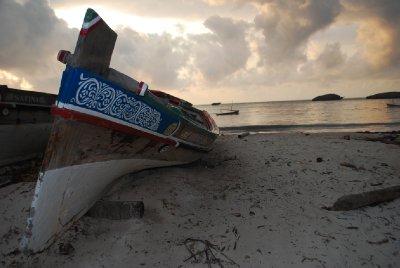 Boat resting on Watamu Bay