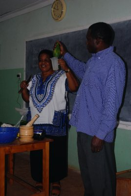George and Rosalia demonstrate Natural Medicines