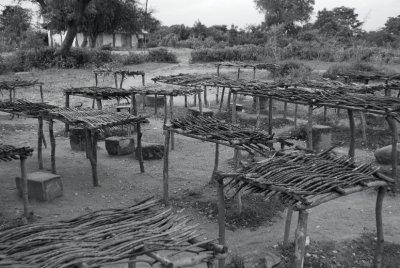 Empty Market Stalls in Asembo