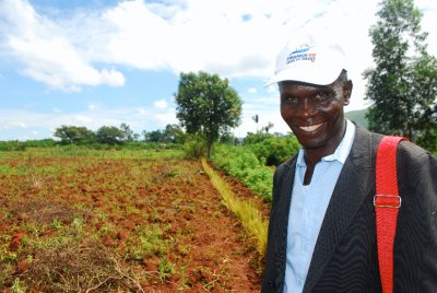 REAP field worker (my colleague), Sam Ouma and his characteristic smile